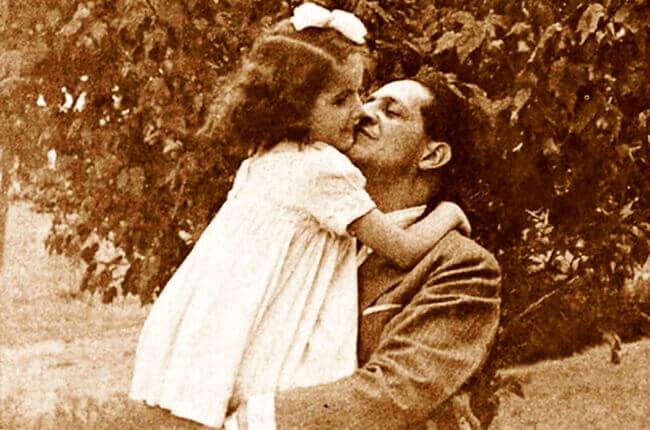 Jorge Eliécer Gaitán y su hija Gloria Gaitán Jaramillo