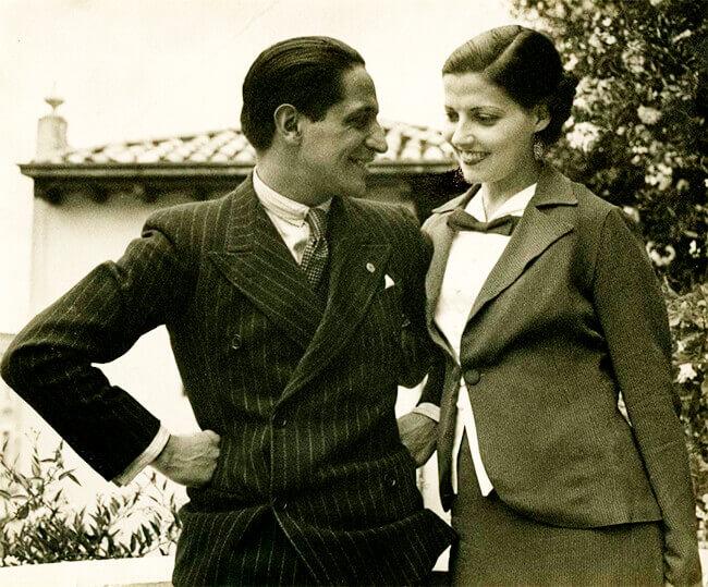 Jorge Eliécer Gaitán y su esposa Amparo Jaramillo