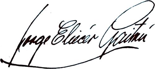 Firma de Jorge Eliécer Gaitán