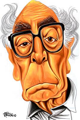 José Saramago - Ilustración © J. Bosco