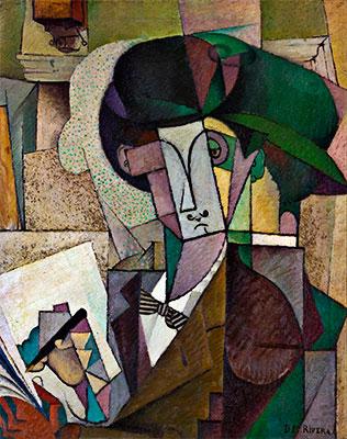 El joven de la estilográfica (Diego Rivera, 1914)