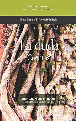 Portada de la antología de cuentos «La duda» del Grupo Literario «El Aprendiz de Brujo»