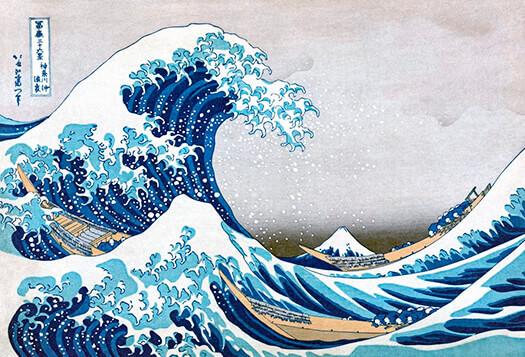 «La gran ola de Kanagawa» por Katsushika Hokusai (1830)