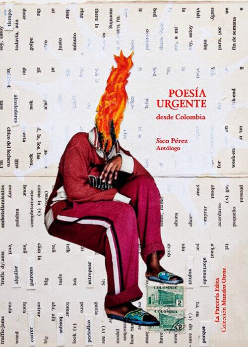 Portada del libro «Poesía urgente desde Colombia» de La Parcería