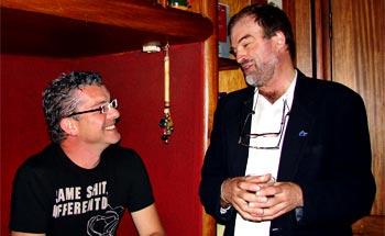 Karl Troller y Eduardo Arias