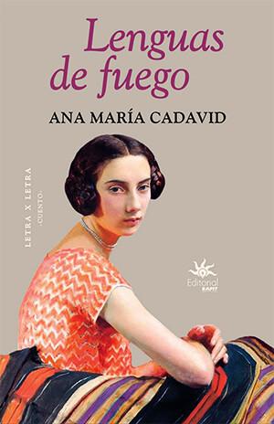 Portada del libro de cuentos «Lenguas de fuego» de Ana María Cadavid