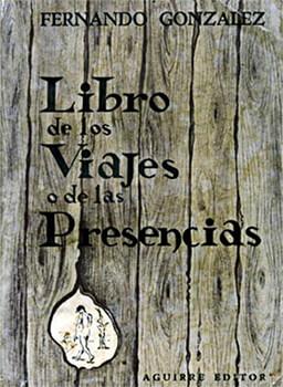 """Portada de la edición príncipe del """"Libro de los viajes o de las presencias"""", publicado por Aguirre Editor en 1959"""