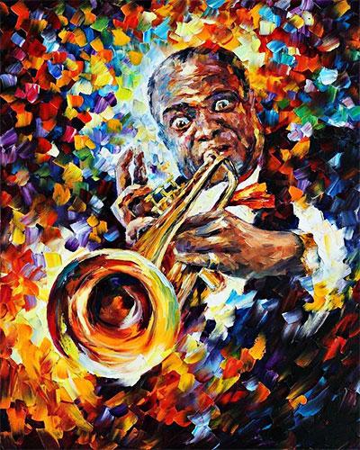 Louis Armstrong por Leonid Afremov