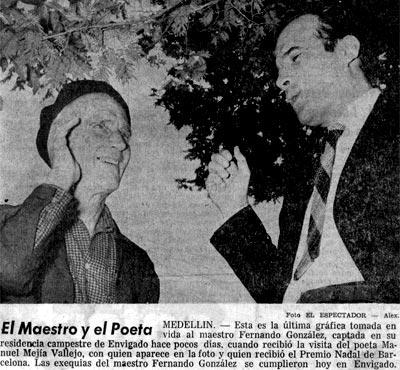 Fernando González Ochoa y Manuel Mejía Vallejo