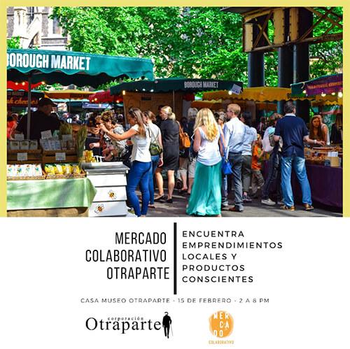 Afiche de invitación al Mercado Colaborativo