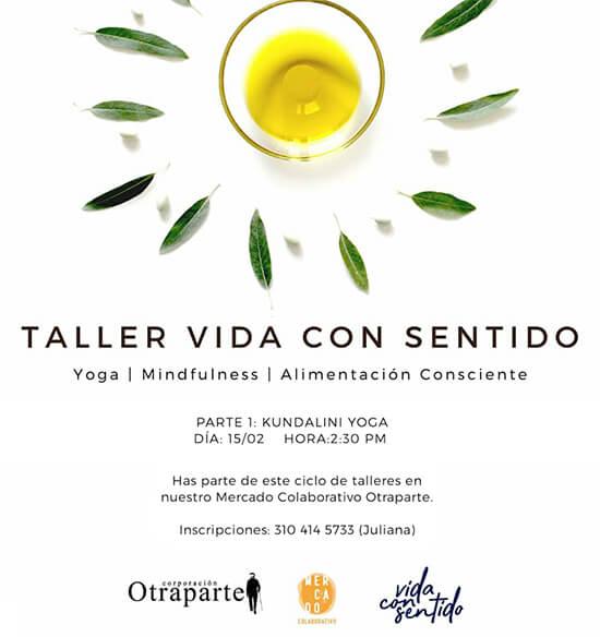 Afiche de invitación al Taller «Vida con sentido»