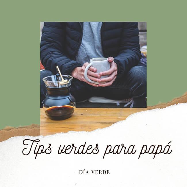 Mercado Colaborativo - Afiche de «Tips verdes para papá»