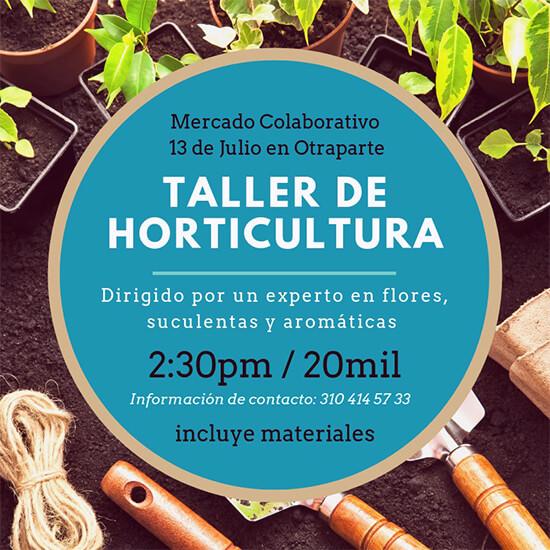 Afiche de invitación al Taller de Horticultura