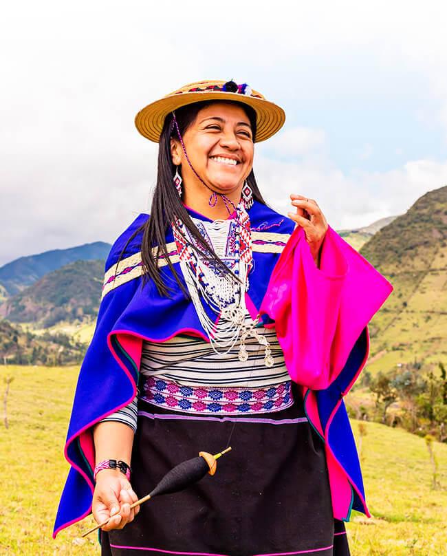 Mercedes Tunubalá, «Mama Mercedes», primera alcaldesa indígena Misak del municipio de Silvia, Cauca, elegida para el período 2020-2023.