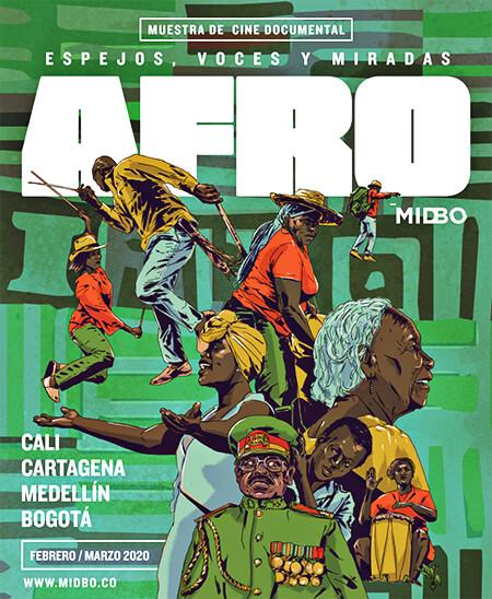 Afiche MIDBO 2020: «Espejos, voces y miradas afro»