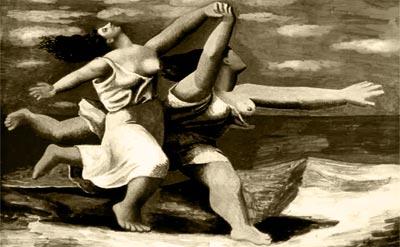 """""""Dos mujeres corren en la playa"""" - Por Pablo Picasso"""