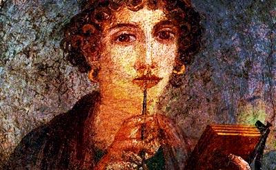 Safo (ca. 612 A.C.) - Fresco en Pompeya / Sexto Encuentro de Mujeres Poetas de Antioquia