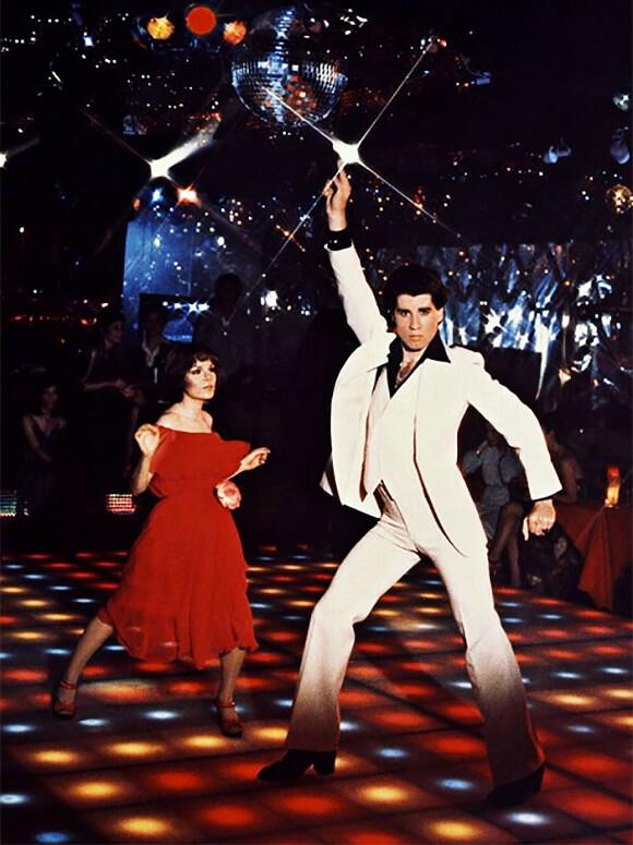 """John Travolta en """"Fiebre de sábado por la noche"""""""