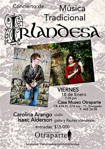 Isaac Alderson & Carolina Arango - Concierto de Música Tradicional Irlandesa