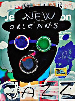 New Orleans Jazz - Ilustración por Manolo Cuervo
