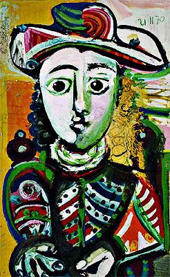 """""""Niña sentada"""" por Pablo Picasso"""