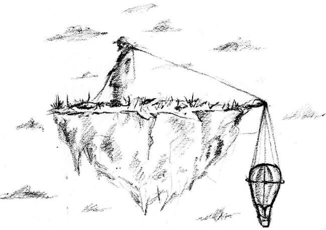 Ilustración de Camila Jiménez para el poemario «Oquedades» de Christian Palacio