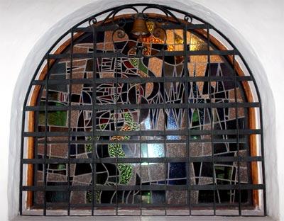 Vitral de la Casa Museo Otraparte