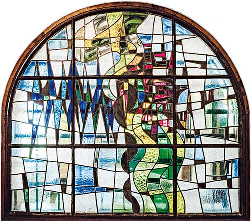Vitral Casa Museo Otraparte por Leandro Velasco