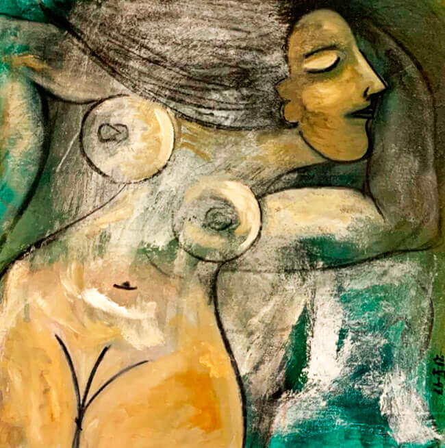 Pintura «Mujer» de Paco Benavides