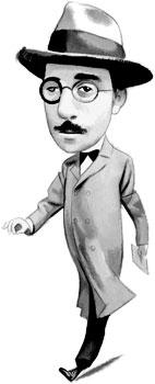 Fernando Pessoa (1888 - 1935) - Ilustración por Fernando Vicente