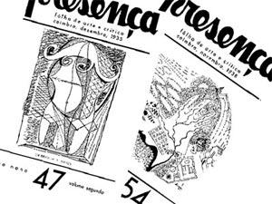 Capas da revista Presença, números 47 e 54.