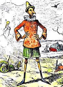Ilustración original de Pinocho por Mazzanti