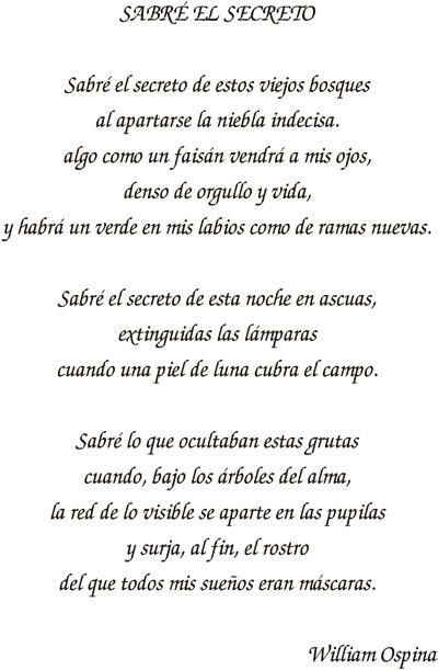 """""""Sabré el secreto"""" - Poema de William Ospina"""
