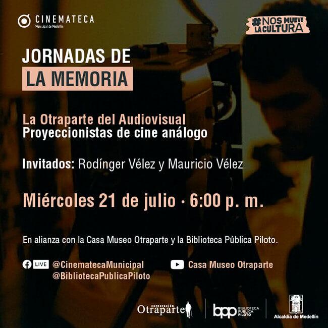 Pieza de difusión de Jornadas de la Memoria: «Proyeccionistas de cine análogo»