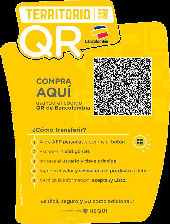 Código QR para consignaciones en nuestra cuenta corriente de Bancolombia