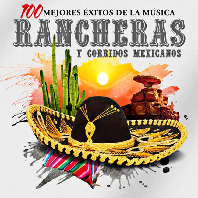 Portada del disco «Rancheras y corridos mexicanos»