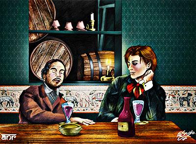 Verlaine y Rimbaud por Raajeyah