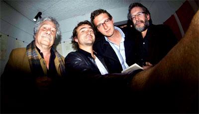 Juan Manuel Roca, Robert Max Steenkist, Santiago Espinosa y Santiago Mutis