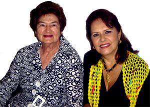 Rocío Vélez de Piedrahíta y María Teresa Ramírez Uribe