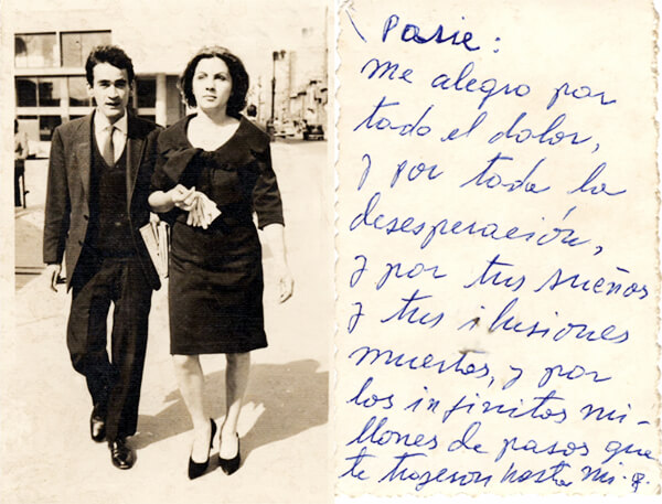 Gonzalo Arango y Rosemary Smith (Rosa Girasol)