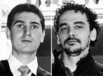 Rubelio López y Gabriel Lopera