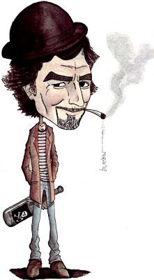 Joaquín Sabina - Ilustración por Carlos Alberto Morote Bernal