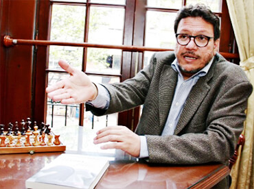 Santiago Gamboa / Foto Milton Ramírez - Ministerio de Cultura
