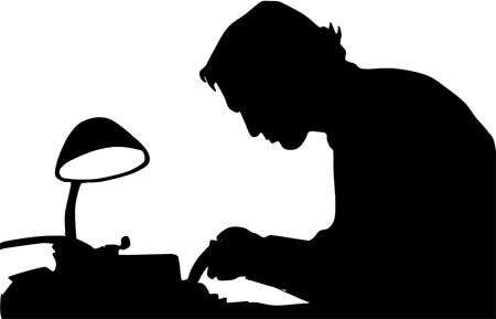 Silueta de un escritor
