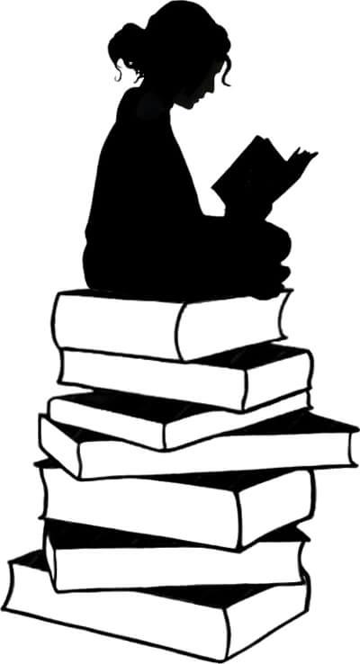 Silueta de una lectora