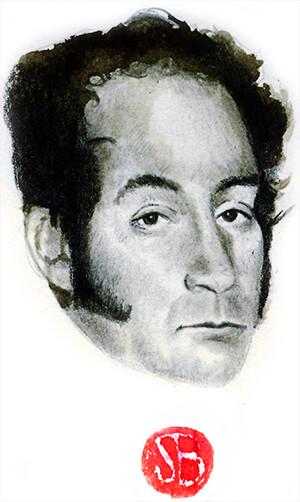 Simón Bolívar - Ilustración © Daniel Gómez Henao