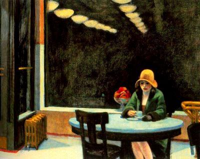 """""""Automat"""" (1927) por Edward Hopper"""