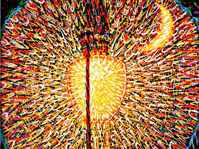 """""""The Street Light"""" (1909) por Giacomo Balla (Fragmento)"""