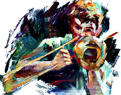 """""""Street Musician"""" por Tony Song"""