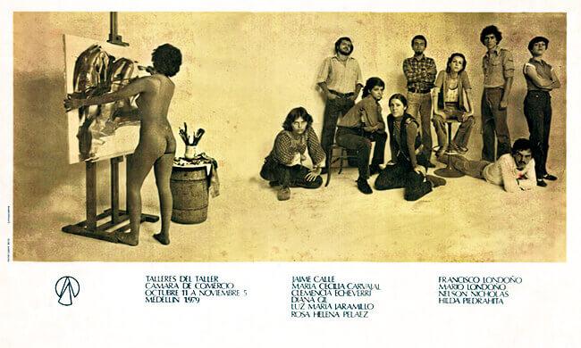 Afiche de los talleres del Taller de Artes de Medellín